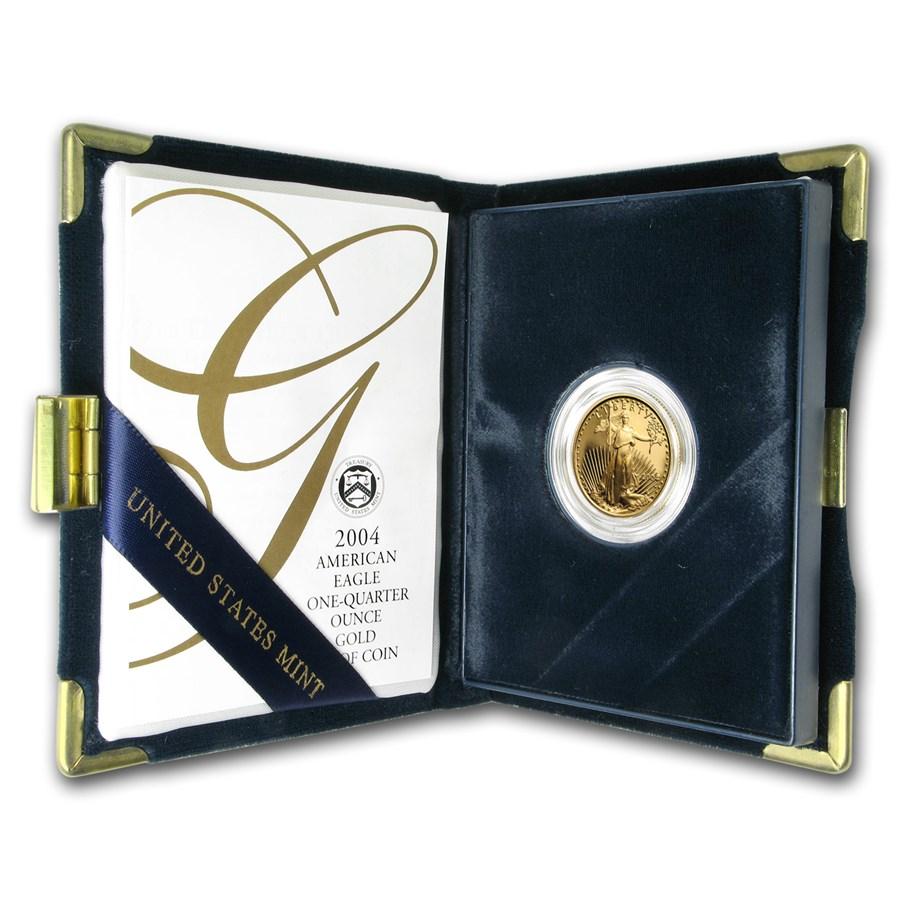 2004-W 1/4 oz Proof Gold American Eagle (w/Box & COA)