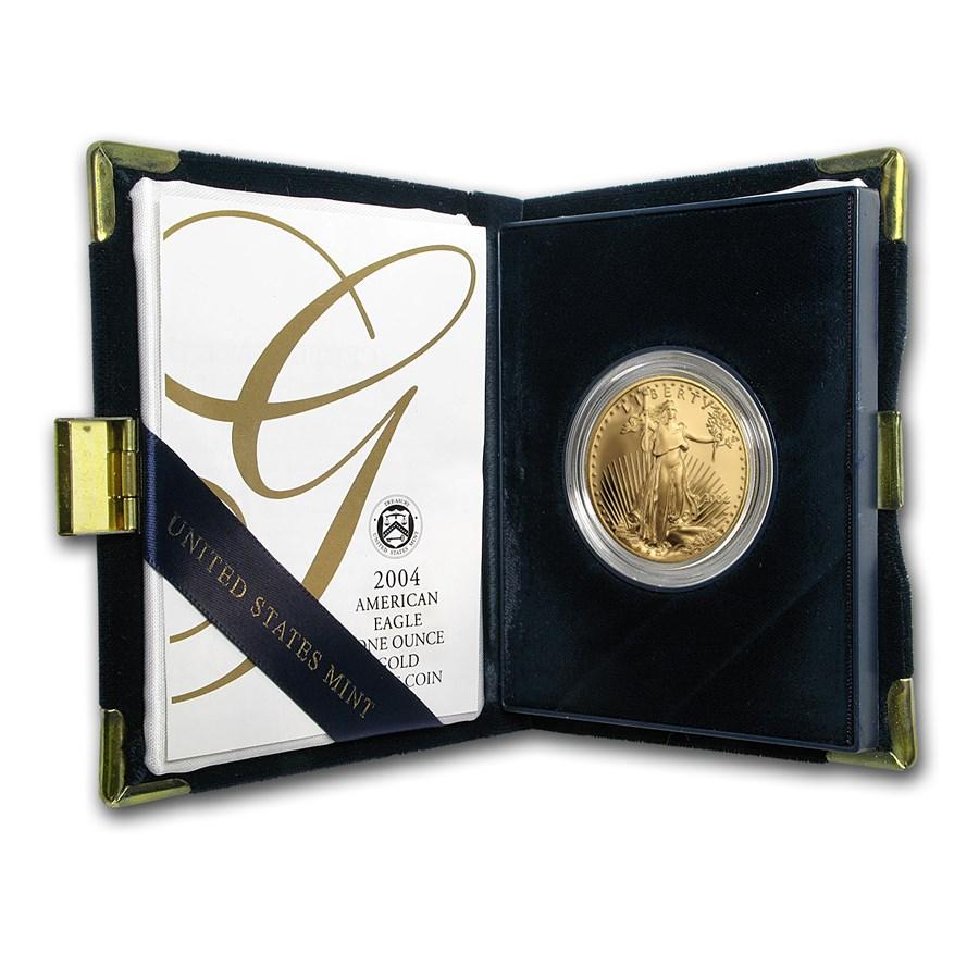 2004-W 1 oz Proof American Gold Eagle (w/Box & COA)