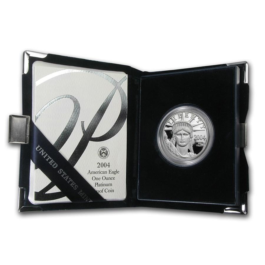 2004-W 1 oz Proof American Platinum Eagle (w/Box & COA)