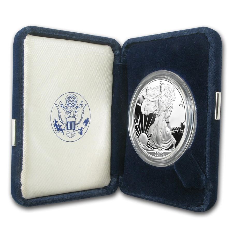 2004-W 1 oz Proof Silver American Eagle (w/Box & COA)