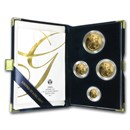 2004-W 4-Coin Proof American Gold Eagle Set (w/Box & COA)