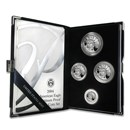 2004-W 4-Coin Proof American Platinum Eagle Set (w/Box & COA)