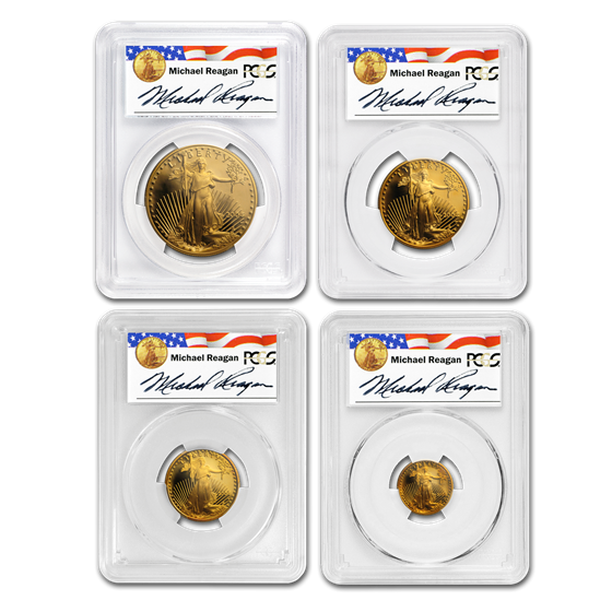 2004-W 4-Coin Proof Gold American Eagle Set PR-70 PCGS