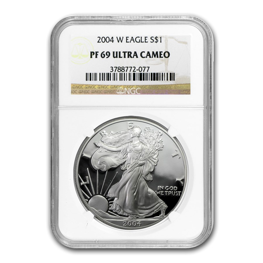 2004-W Proof American Silver Eagle PF-69 NGC
