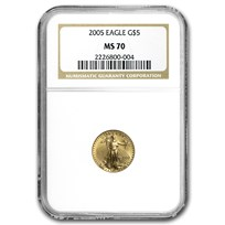 2005 1/10 oz American Gold Eagle MS-70 NGC