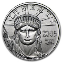 2005 1/10 oz American Platinum Eagle BU
