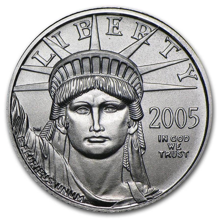 2005 1/10 oz American Platinum Eagle BU