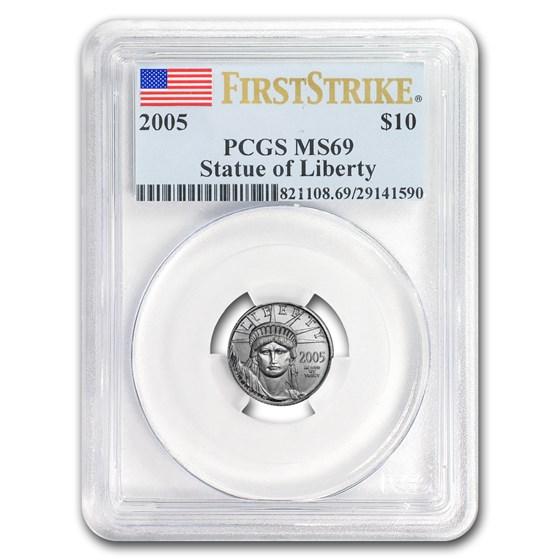 2005 1/10 oz American Platinum Eagle MS-69 PCGS (FirstStrike®)