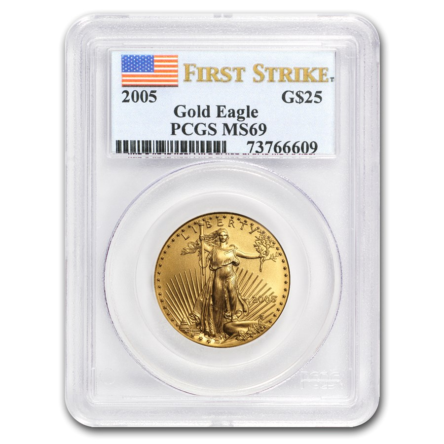 2005 1/2 oz American Gold Eagle MS-69 PCGS (FS)