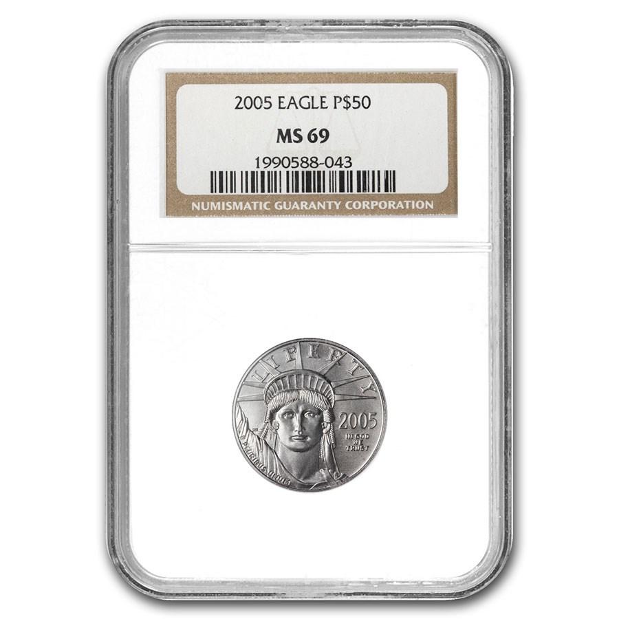 2005 1/2 oz American Platinum Eagle MS-69 NGC