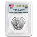 2005 1/2 oz American Platinum Eagle MS-69 PCGS (FirstStrike®)