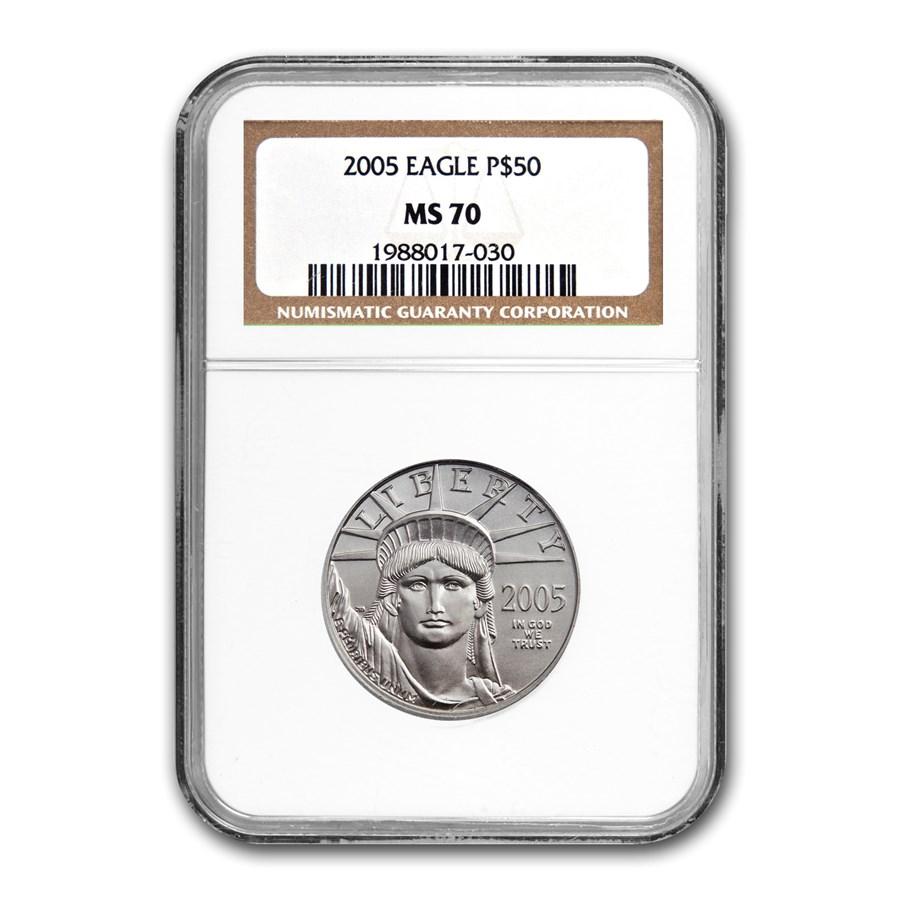 2005 1/2 oz American Platinum Eagle MS-70 NGC