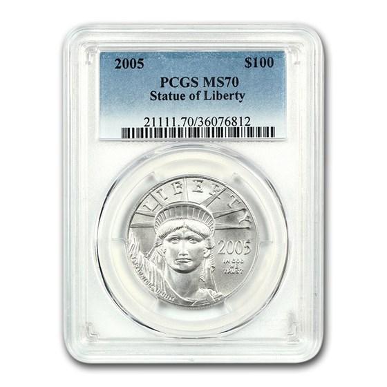 2005 1 oz American Platinum Eagle MS-70 PCGS