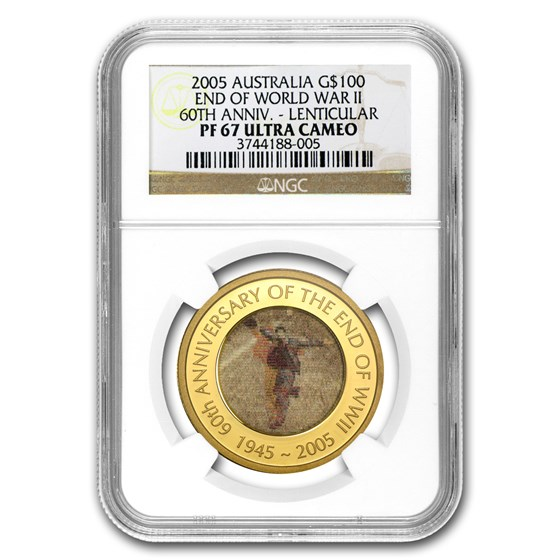2005 1 oz Gold 60th Anniversary of the End of WWII PF-67 NGC
