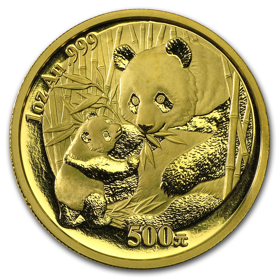 2005 1 oz Gold Chinese Panda (Light Abrasions)