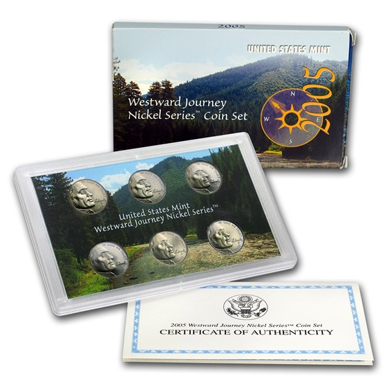 2005 6-Coin Westward Journey Nickel Set (w/Box & COA)
