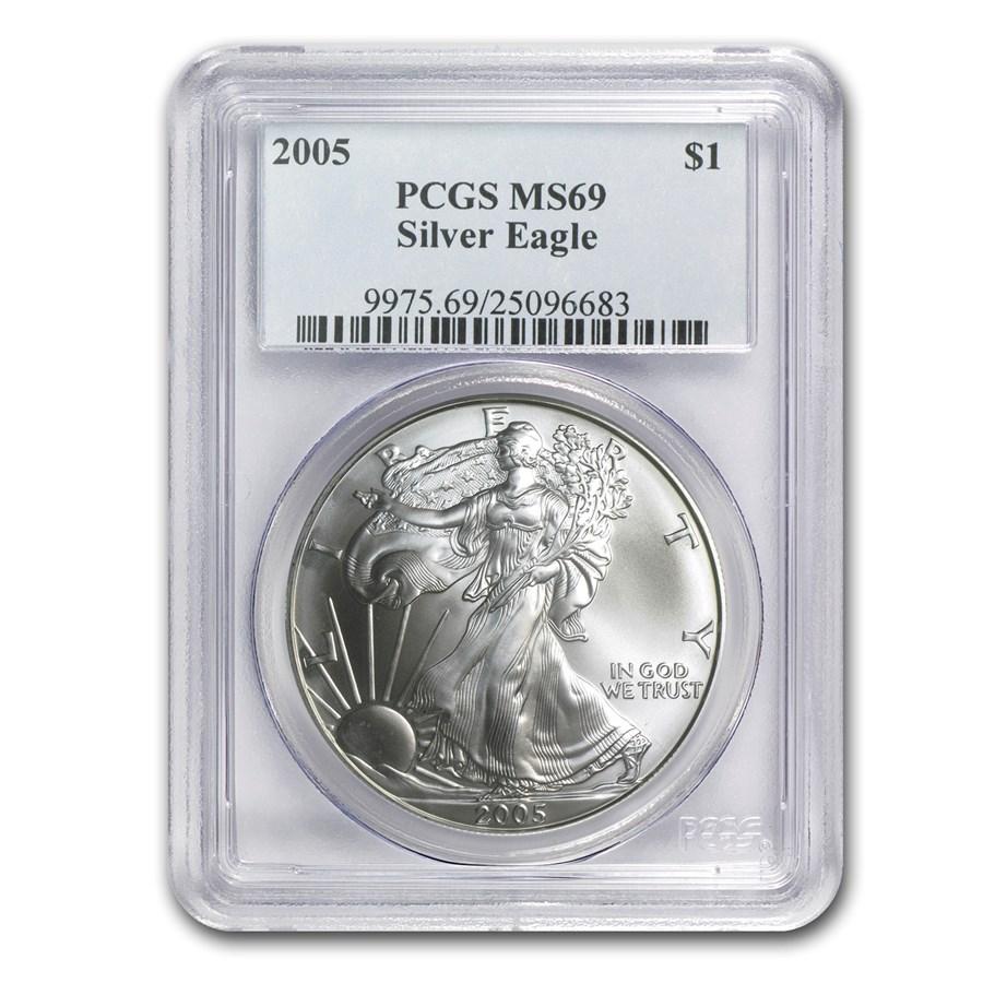 2005 American Silver Eagle MS-69 PCGS