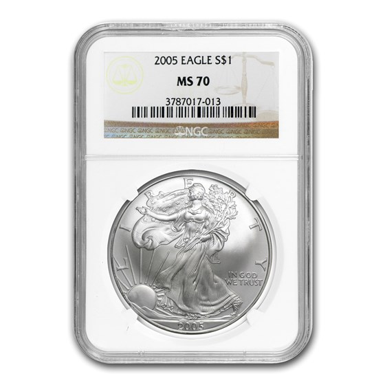 2005 American Silver Eagle MS-70 NGC