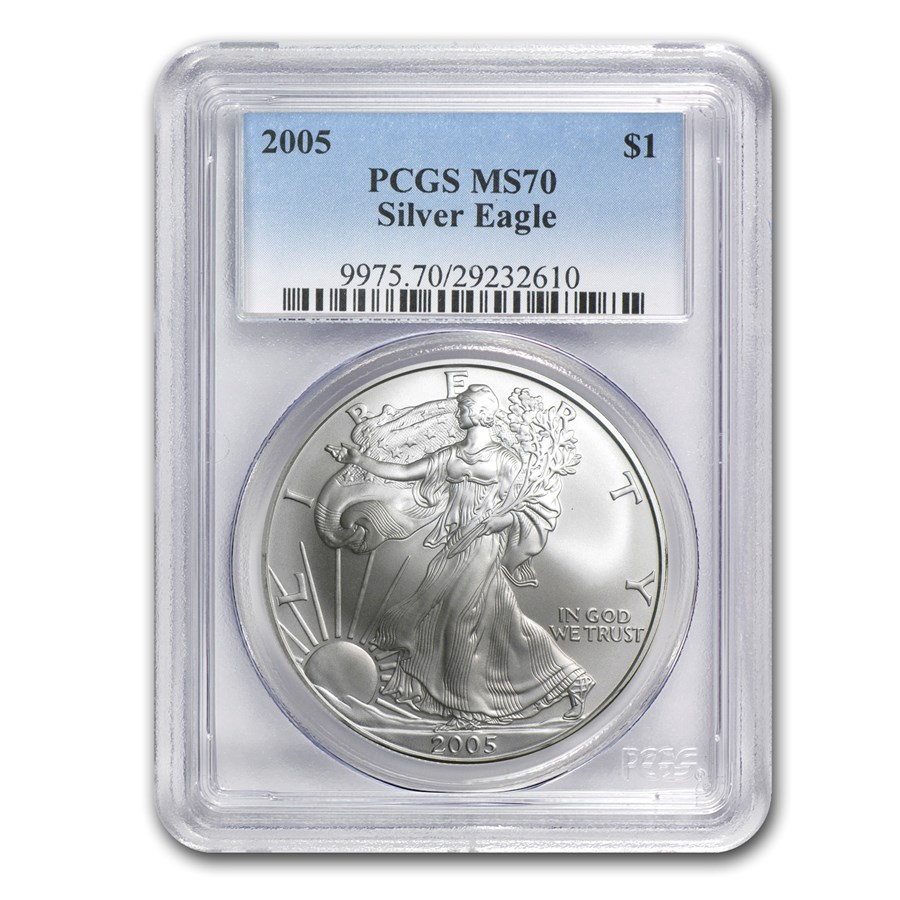2005 American Silver Eagle MS-70 PCGS