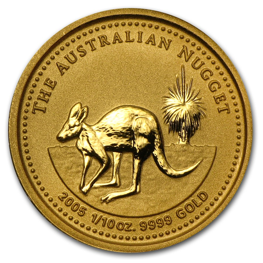 2005 Australia 1/10 oz Gold Nugget