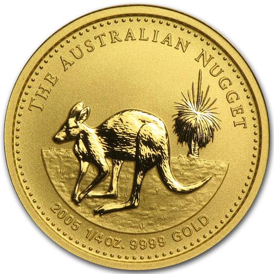 2005 Australia 1/4 oz Gold Nugget BU