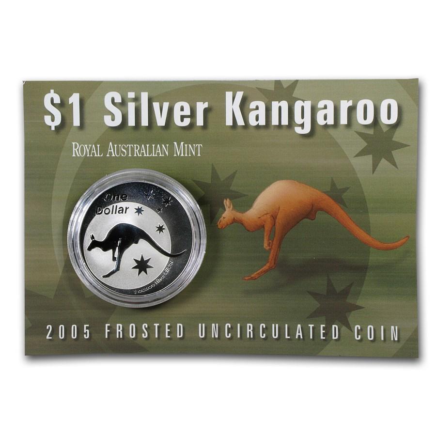 2005 Australia 1 oz Silver Kangaroo (In Display Card)
