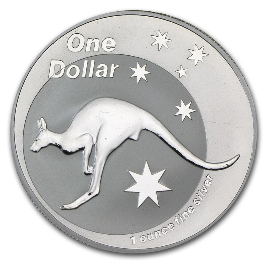 2005 Australia 1 oz Silver Kangaroo (Light Abrasions)