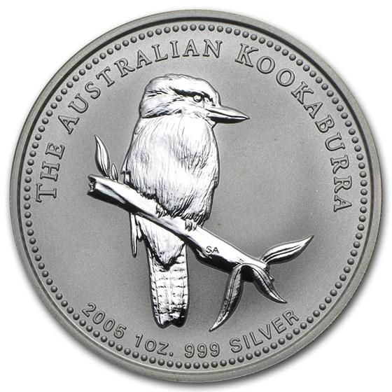 2005 Australia 1 oz Silver Kookaburra BU