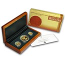 2005 Australia 3-Coin Gold Lunar Rooster Proof Set (Series I)