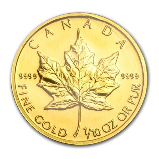 2005 Canada 1/10 oz Gold Maple Leaf BU