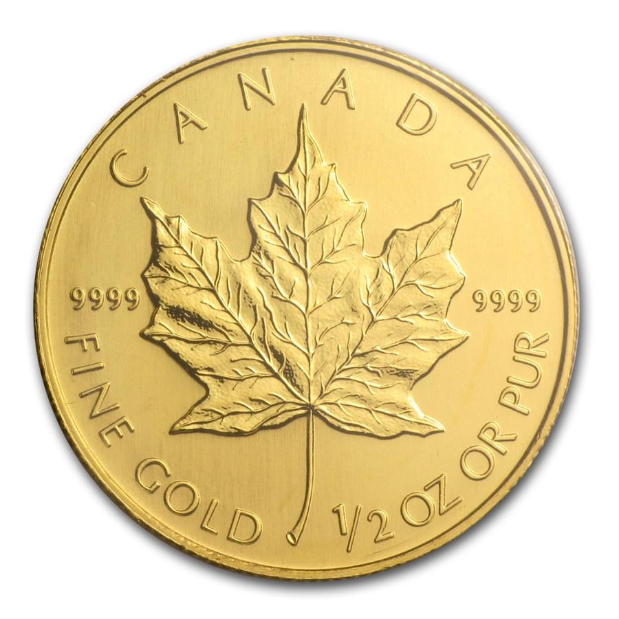 2005 Canada 1/2 oz Gold Maple Leaf BU