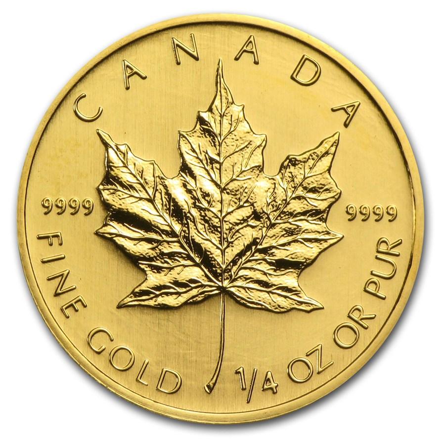 2005 Canada 1/4 oz Gold Maple Leaf BU