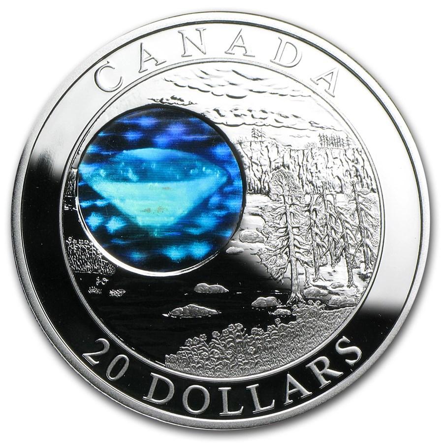 2005 Canada 1 oz Silver $20 Natural Wonders Diamonds (Hologram)