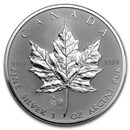 2005 Canada 1 oz Silver Maple Leaf Lunar Rooster Privy