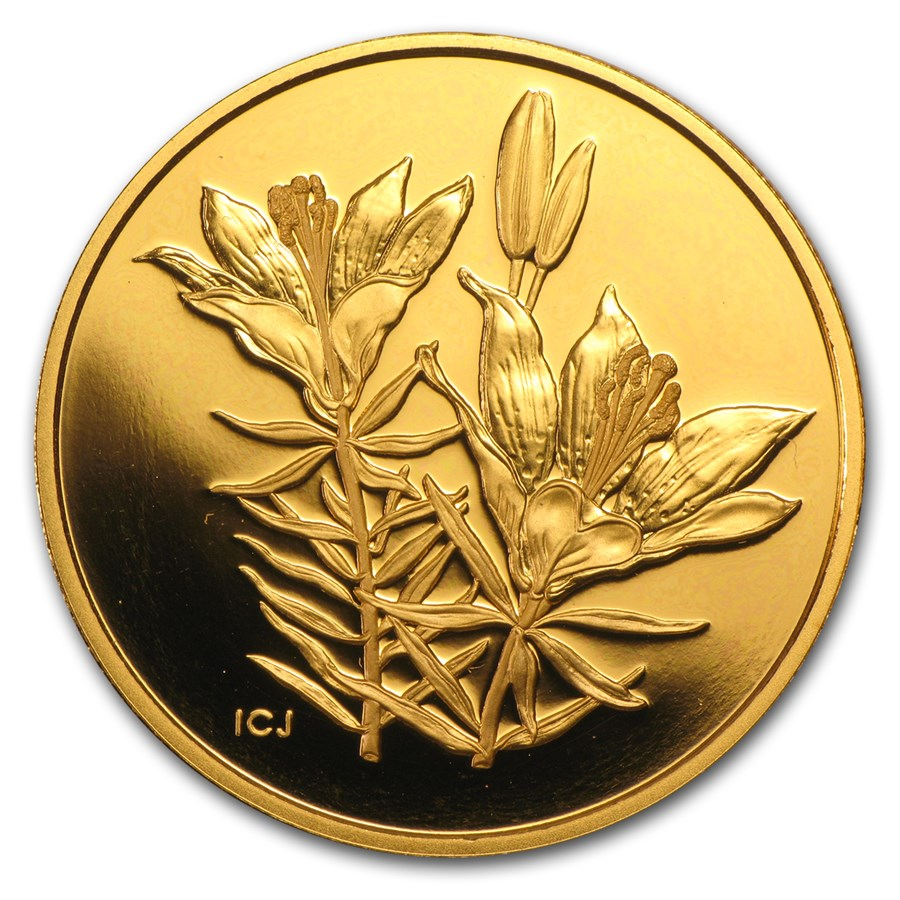 2005 Canada Proof Gold $350 Western Red Lily .99999 Proof