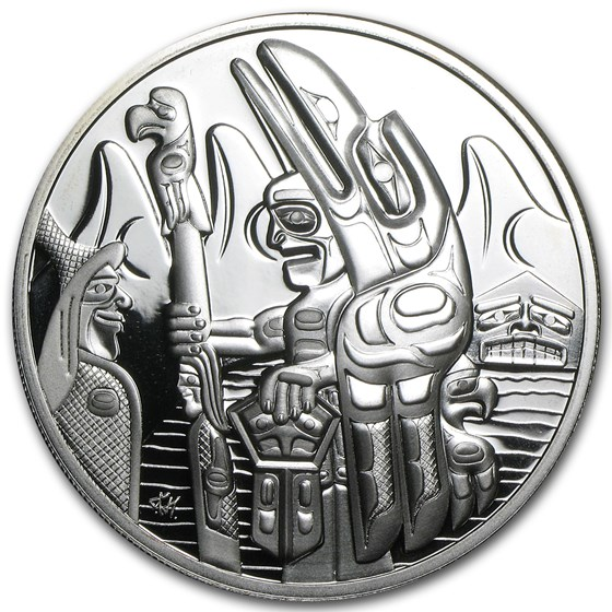 2005 Canada Silver $30 Totem Pole Proof