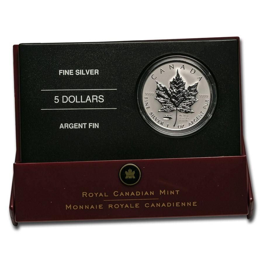 2005 Canada Silver $5.00 V-E Day Privy Reverse Prf (Box/No COA)