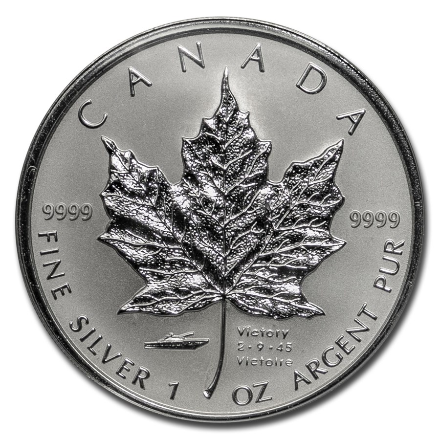 2005 Canada Silver $5.00 V-J Day Privy Reverse Proof (Box & COA)