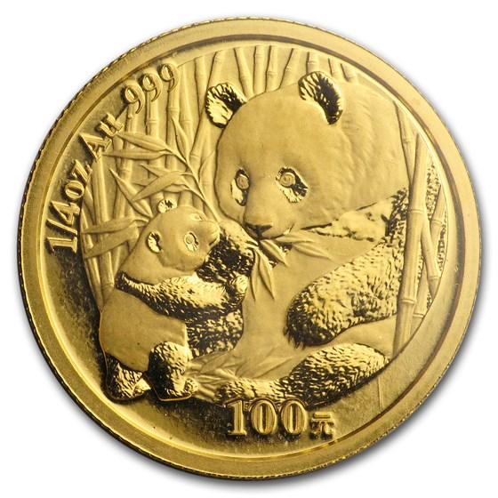 2005 China 1/4 oz Gold Panda BU (Sealed)