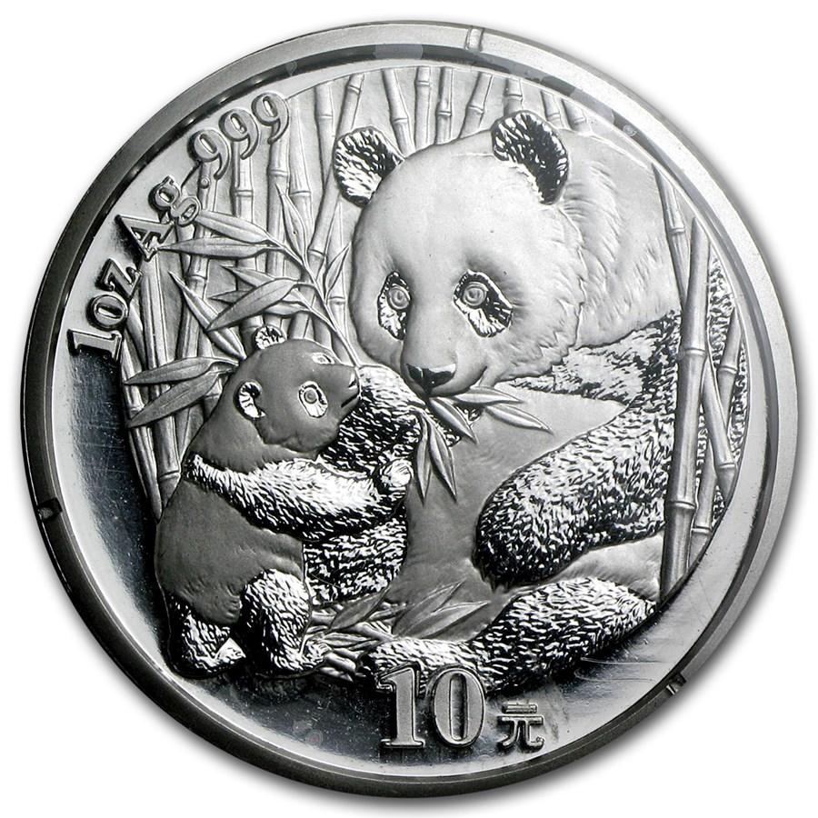 2005 China 1 oz Silver Panda BU (Sealed)
