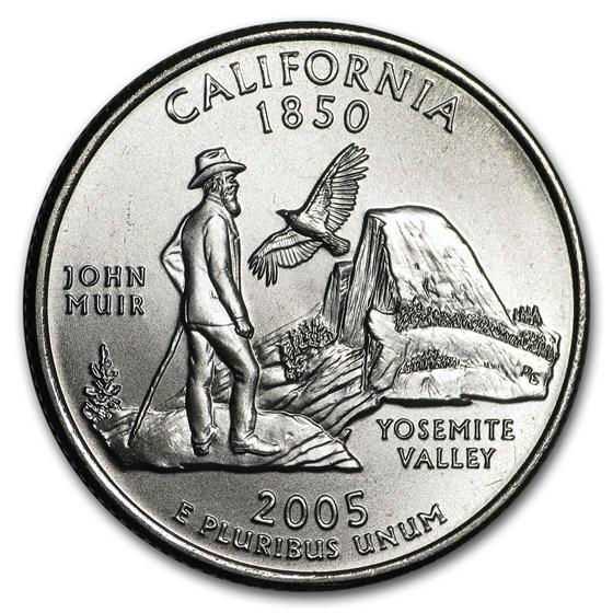 2005-D California State Quarter BU