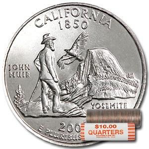 2005-D California Statehood Quarter 40-Coin Roll BU