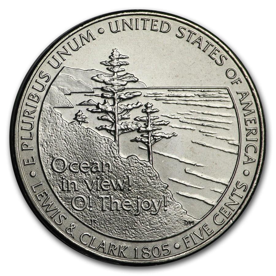 2005-D Jefferson Nickel Ocean in View BU