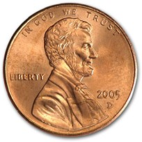 2005-D Lincoln Cent BU (Red)