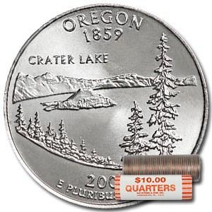 2005-D Oregon Statehood Quarter 40-Coin Roll BU