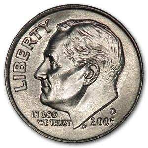 2005-D Roosevelt Dime BU