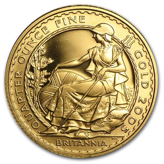 2005 Great Britain 1/4 oz Proof Gold Britannia