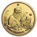 2005 Isle of Man 1/5 oz Gold Himalayan Cat & Kittens BU