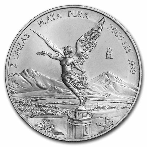 2005 Mexico 2 oz Silver Libertad BU