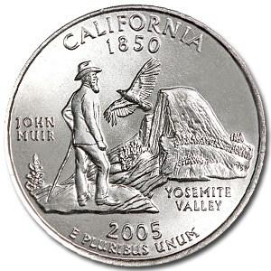 2005-P California State Quarter BU